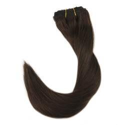 Полный блеск индивидуальный заказ 100% Remy зажим для волос г в волосы 100 г сетчатые волосы