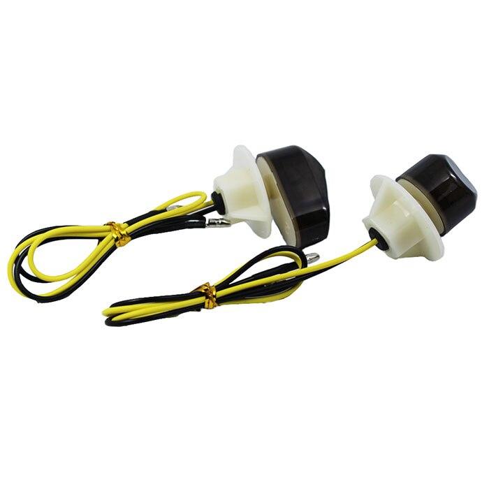 2Pcs Motorcycle Turn Signal Light Motorbike Amber LED Light Lamp Bulbs Indicator For Yamaha 12V