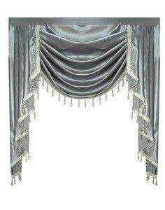 Image 2 - Gordijn Volant Swag Lambrequin voor Living Eetkamer Slaapkamer Luxe Stijl Venster Swag Europese Koninklijke Stijl