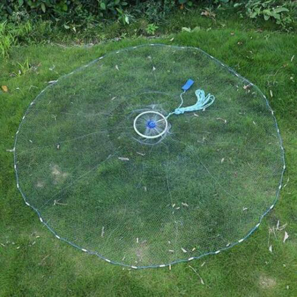 Fishing Net Aluminum Ring USA Catch Catcher Portable Tool Outdoor Hand Throw  ED-shipping