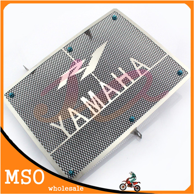 motorcycle radiator guard protector Front grille cover stainless steel radiator grill cover For Yamaha 2004-2006 YZF R1 04-06