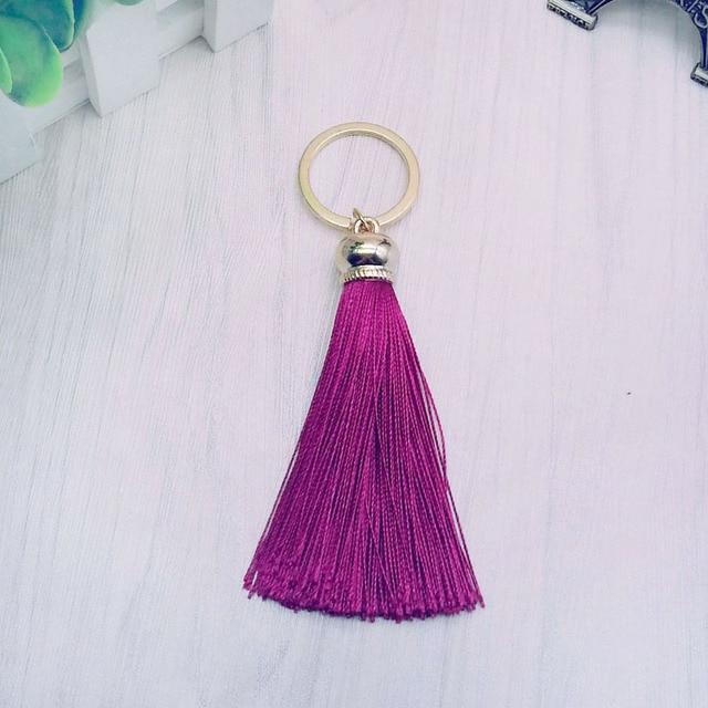 Купить новое модное женское кольцо для ключей с бахромой #16022 картинки