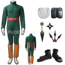 Hot Naruto Rock lee Cosplay Costume Halloween Costume Full Set hot naruto sai cosplay costume halloween costume full set