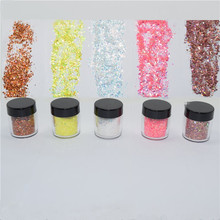 New 5g/Box 5 Colors Mixed sequins Glitter Powder For Nails Shinning Dust Nail Art DIY Chrome Pigment Nail Decoration Tools