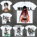 Anime japonês de T tshirt da camisa scouting roupas legião shingeki no kyojin ataque em Titan gigante de manga curta