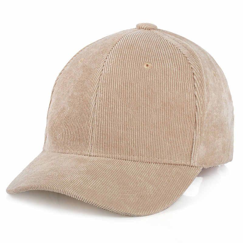 e56af92ae4c Men Womens Corduroy Cord Baseball Cap Adjustable Strap Back Trucker Hats