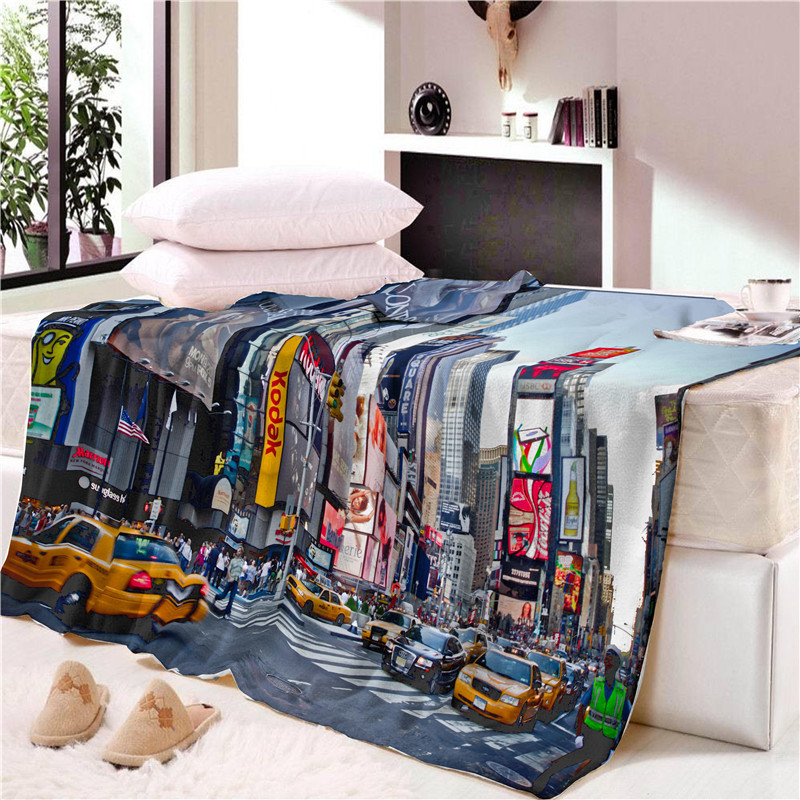 Soft Fleece Throw Blanket Urban New York Cityscape At Sunset Skyscrapers Panoramic Metropolis Architectural Photo