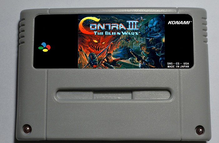 Contra III The Alien Wars - Action Game Cartridge EUR Version 16 bit 46 pin