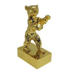 Berlijn golden beer film award metalen craft souvenir woondecoratie graveren