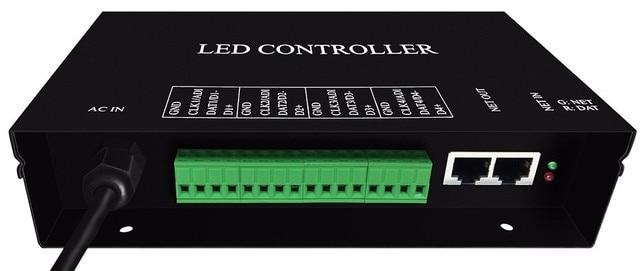 H802RA;4 порта (4096 пикселей) контроллер светодиодных светодиодный кселей; Поддержка протокола Art Net для MADRIX или контроллера marster (H803TV/ H803TC)