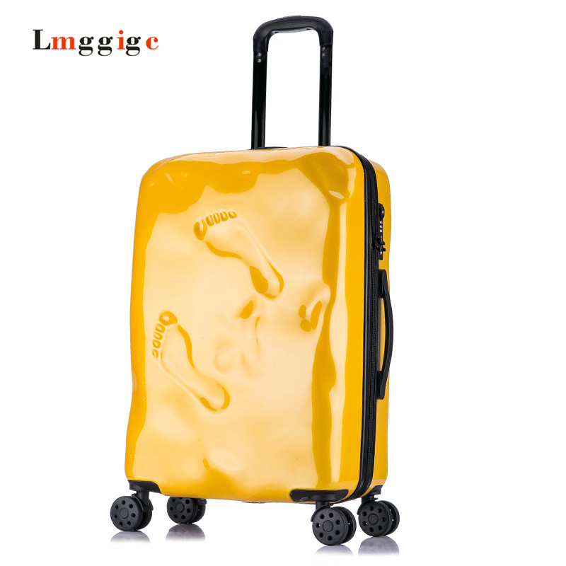 Vintage Luggage Travel  box,Suitcase with Spinner Rolling,Student Wheels Trolley Bag ,PC Carry On with Password Lock durable travel rolling luggage 22 inch business suitcase boarding trolley bags password lock vintage spinner wheels box 4002