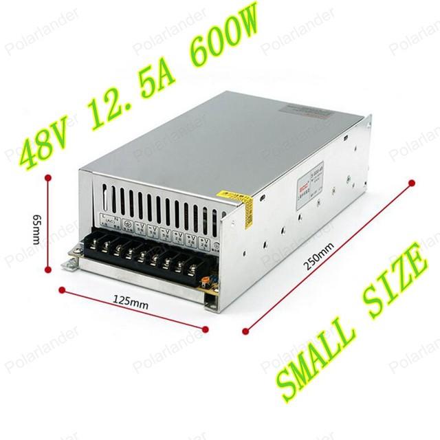 600 W 48 V 12.5A Única Saída de Comutação Ajustável fonte de alimentação para LED Strip Converter luz Universal AC-DC