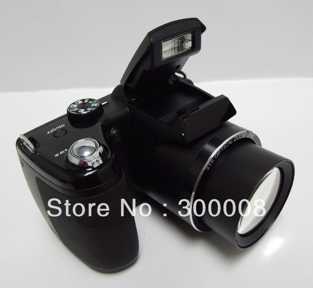 """professional digital camera with 16mp sensor and 21x optical zoom,3.0"""" TFT LCD Free Shipping"""