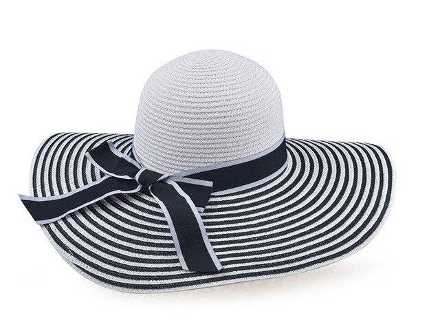 2016 venta Caliente de Las Mujeres Del Verano SunHat sunbonnet Playa Sombreros de Paja Sombrero de Ala Ancha Tapa Ocasional oferta especial del envío libre