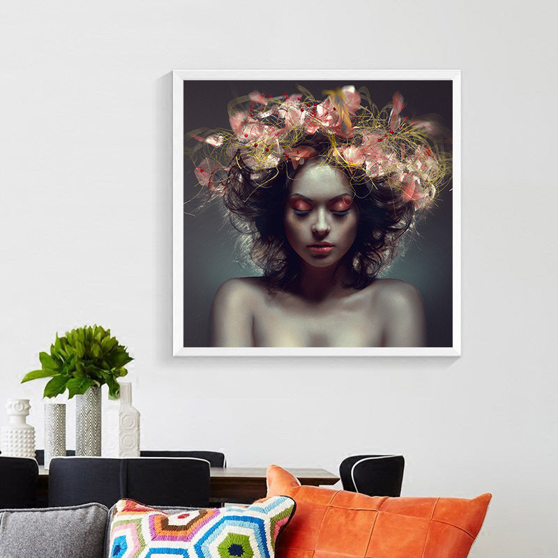 Fashion Creative Makeup Poster Paintings Beauty Makeup Studio Decoration Picture School Classroom Wall Art Paintings PD2590 in Painting Calligraphy from Home Garden