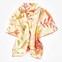 HA844 Summer Towel business trip party with Printed Scarf Silk Scarves 100% Silk lady sunscreen Shawl