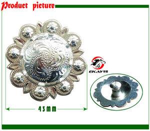 Image 1 - จัดส่งฟรีม้าอานตกแต่ง,เข็มขัดเครื่องประดับ,ขนาดใหญ่,ชุบโครเมี่ยม (BKZ8056L)
