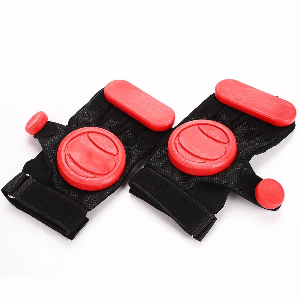Скейтборд Перчатки слайдер перчатки Черный Красный 3 POM носимые длинные защитные перчатки Экипировка Нескользящая износостойкая защита рук
