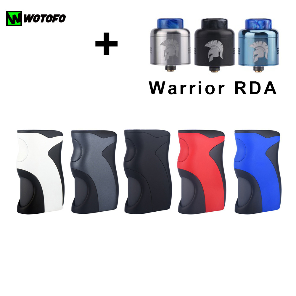 Original Wotofo Recurve Squonk Box Mod E Cig Vape With Warrior RDA Atomizer vape tank Electronic Cigarette box mod kit electronic cigarette 230w original rev gts mod temperature control box vape mod dual 18650 battery vape with ecigs atomizer rda