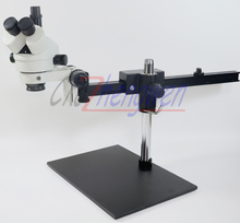 FYSCOPE  3.5X~90X Trinocular Guide Stereo Zoom Microscope PCB Inspection Microscope+60 pcs led light