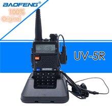Baofeng UV 5R walkie talkie profissional cb rádio estação baofeng fm transceptor 5w vhf uhf portátil uv 5r caça presunto rádio