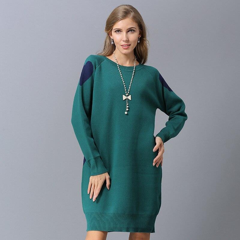 Hiver Pull Style Taille Robe Long black Chandails Sweaters drill Qualité Nouveautés Sweaters Blue Red green Décontractés Bleu Sweaters Grande Femmes Sweaters Supérieure Vert Automne Noir 0OxwtnO8Yq
