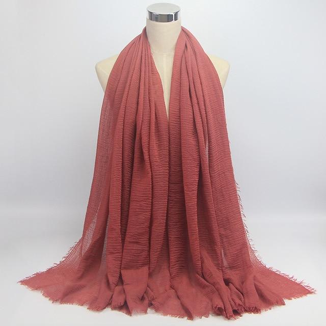 wholesale price 70*180cm women muslim crinkle hijab scarf 4
