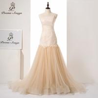 PoemsSongs Luxury Custom Made New Style Sexy Strapless Mermaid Wedding Dress Vestido De Noiva