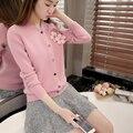 2760-новые весенние цветы набор вязание кардиган свитер куртка женщин 69