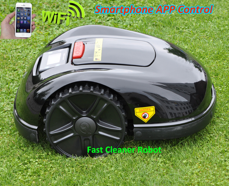 2018 LAWN Mower Robot E1600T with NEWEST Smartest Gyroscope Function, 400m virtual wire and 400pcs pegs +4pcs extra Free blade цена