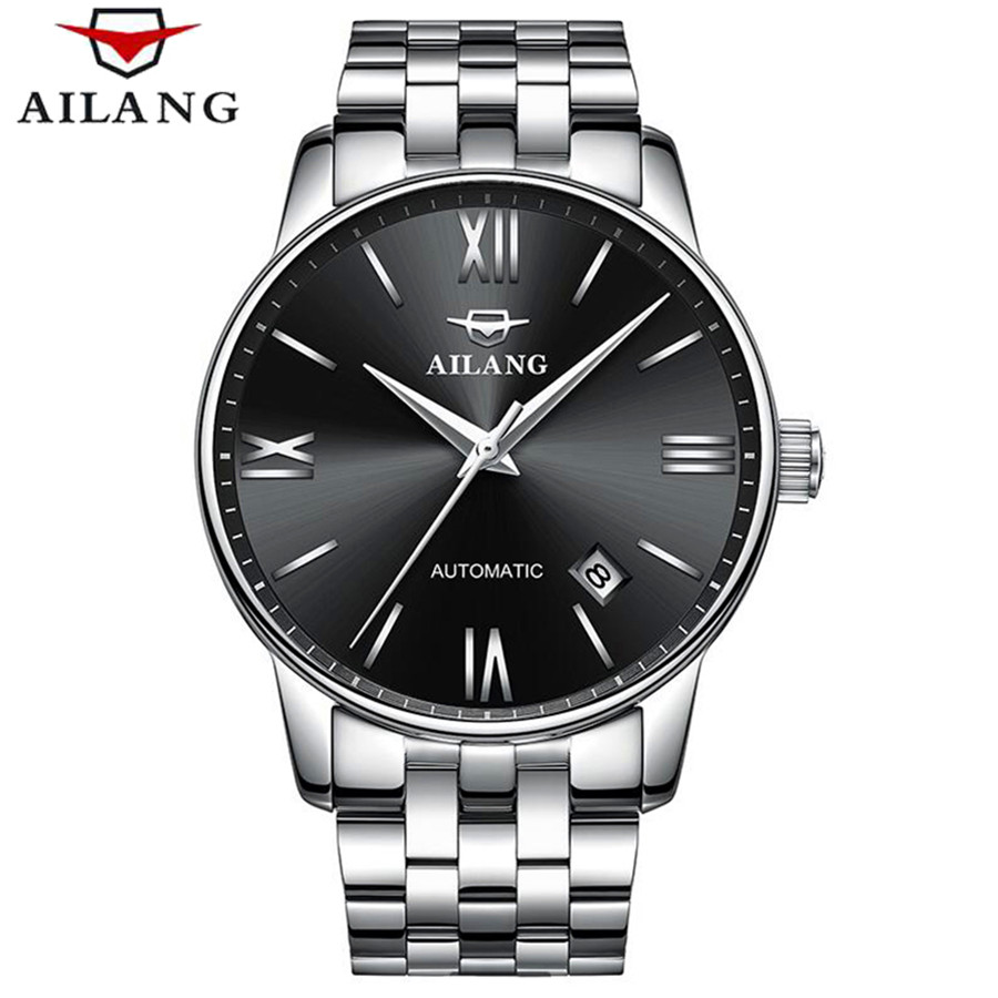 AILANG 2018 Fashion Men Mechanical Watch Top Brand Luxury Stainless Steel Automatic Mechanical Wristwatch Relogio Masculino ailang men mechanical watch luxury brand waterproof automatic wristwatches men s stainless steel mechanical wristwatch a088