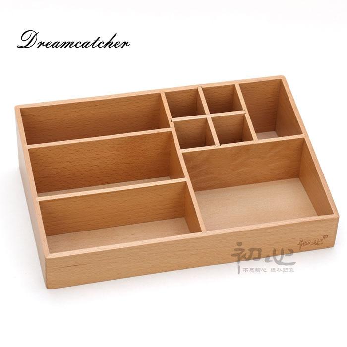 Wooden Makeup Storage Box Vidalondon