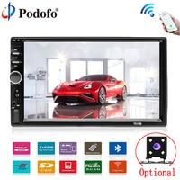Podofo Car Multimedia player Autoradio 2Din 7 HD Car Radio Audio Stereo Touch Screen auto MP5 Player Bluetooth TF USB FM camera
