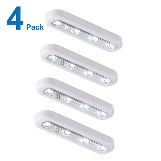 Gentil Battery Powered LED Touch Sensor Night Light Lamp Wireless Push Tap  NightLight LED Kitchen Under Closet