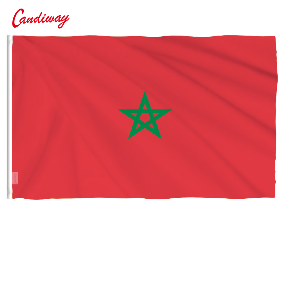 90 X 150cm    Morocco Flag Banner  Hanging National Flags Moroccan Home Decoration     NN091