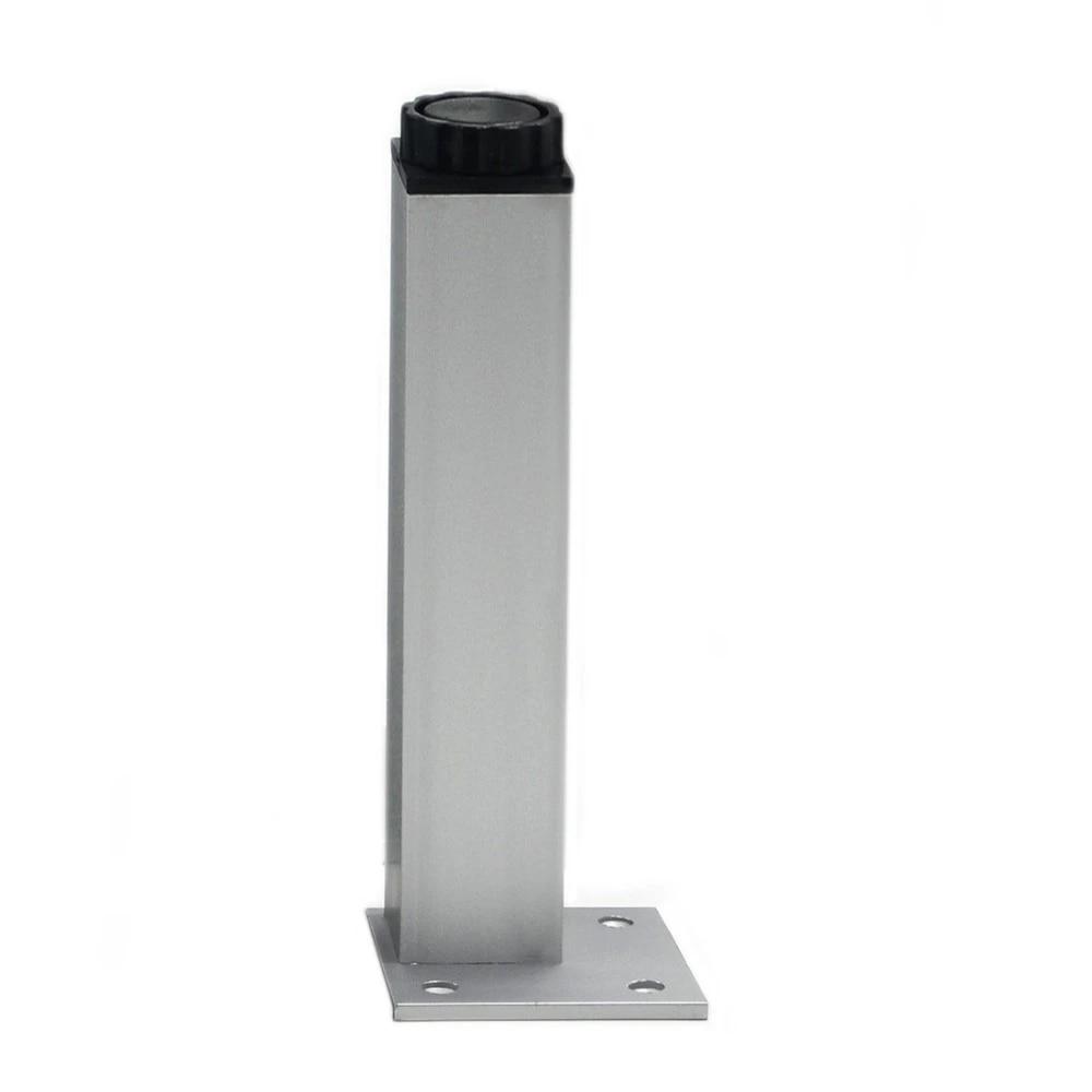 4 pieces 35 cm pieds de meuble pieds d armoire en aluminium table en metal base carree reglable avec vis