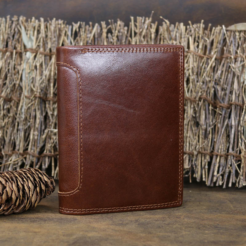 NEWEEKEND 5230 Genuine Leather Oil Cowhide Vertical Lichee Pattern Short Thick Cash Card Coin Wallet Purse Pocket Holder for Man 5230 б у белорусь