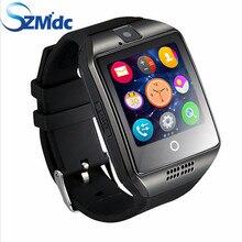 Envío libre SZMDC Pasómetro Q18 reloj Inteligente con Pantalla Táctil de la cámara TF tarjeta Bluetooth smartwatch para Android IOS Teléfono