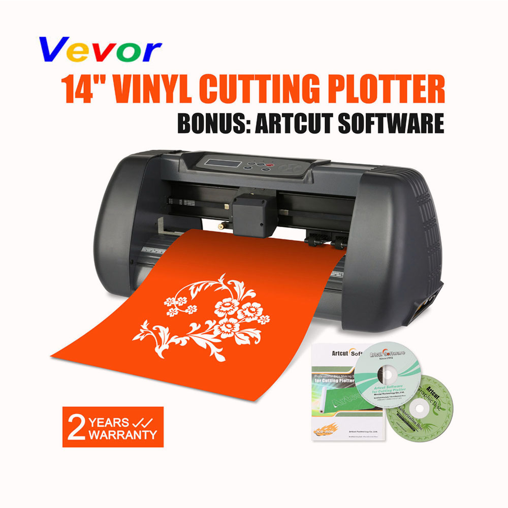 VEVOR 14 quot Vinyl Cutter Bundle Sign Cutting Plotter W ARTCUT SOFTWARE DESIGN CUT
