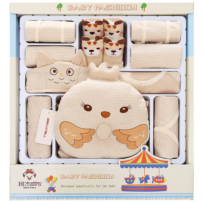 Cotton Baby Clothes And Newborn Gift Set Summer Newborn Baby Newborn Gift Cotton 0cm in diameter large space baby hand footed printing mud set newborn baby hand and foot print hundred days old gift souvenir