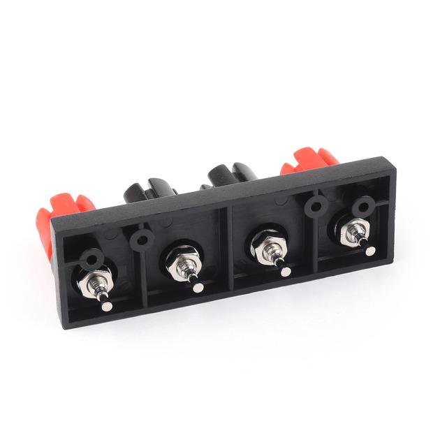 Areyourshop 4 Female Banana Plug Terminal Binding Post for Speaker Amplifier 1/3PCS High Quality Plug Jack Connector