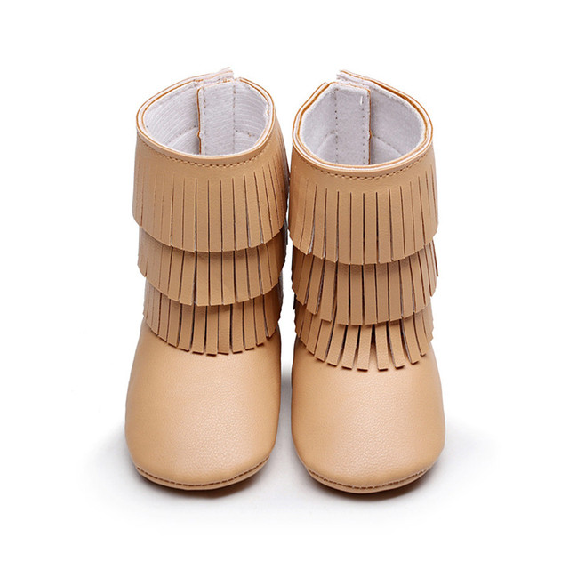 14 Colors New Arrival Spring Autumn Soft Bottom Baby PU Leather Fringe Boots For Girls Boys Newborn Infant Toddlers Shoes