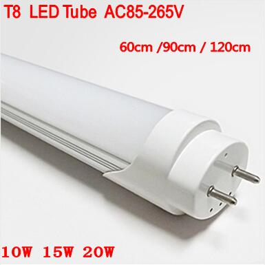 30pcs/lot 2ft 4ft T8 Led Tube 60cm 90cm 120cm Light 10W 15W 20W SMD2835 Led Bulbs tubes G13 AC85-265V Warm Cold White lot 2 90 lot 3 60 g700 sop28