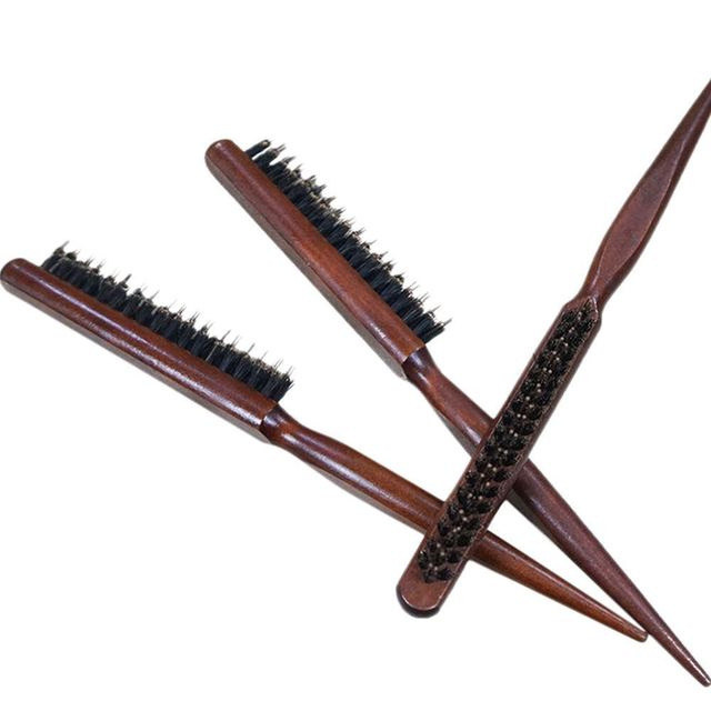 1 PC Pro Professional Salon Teasing Back Hair Brushes Wood Slim Line Comb Hairbrush Extension Hairdressing Styling Tools DIY Kit