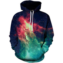 2019 Unisex Women Men Galaxy Animal 3D Digital Print Pullover Hoodie Hooded Fleece Sweatshirt LYM0049-054