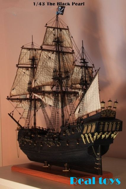 Классическая wwoden парусная лодка соберите комплект 1/43 черная жемчужина пираты карибского моря деревянная модель кит сам модели