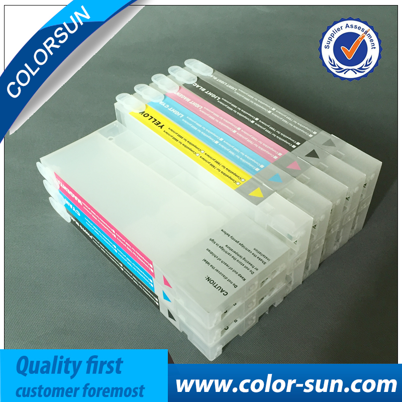 ФОТО New Printer Ink Cartridges for Epson Pro7800 Pro9800 Pro 7800 9800 for Cartridge T6041-T6049 with ARC Chips& One Resetter