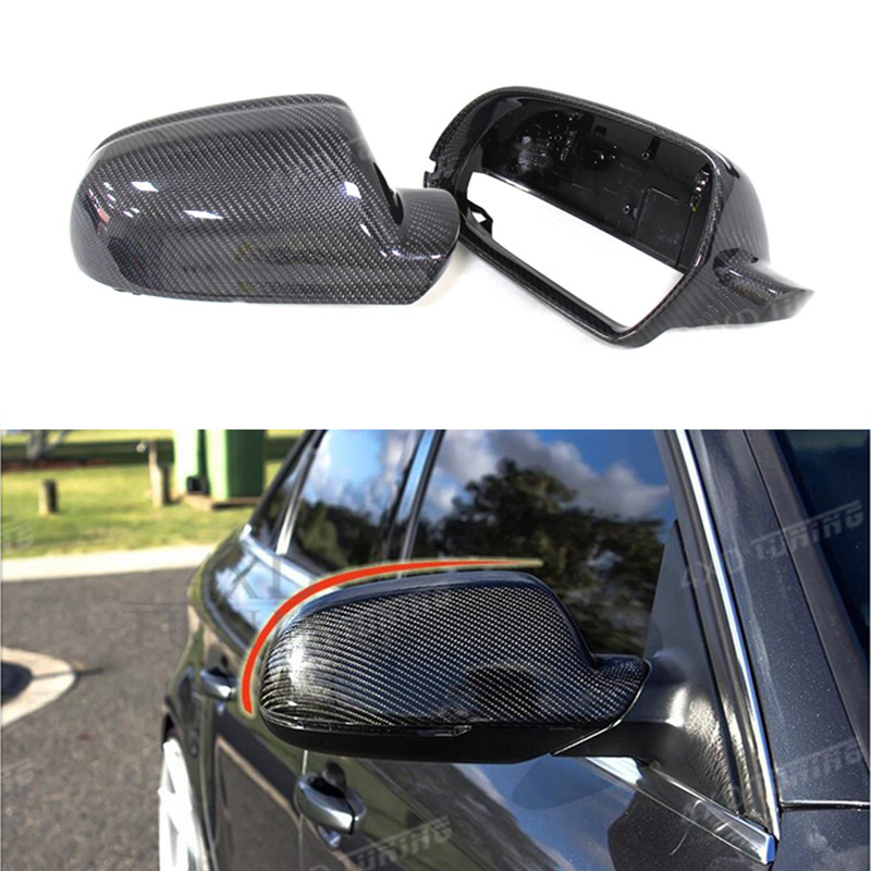 For Audi Mirror Cover A4 B8.5 A5 S5 RS5 Carbon Fiber Mirror Cover Rear View without Lane Assit & with lane assit 2010 - 2015 carbon fiber mirror cover for 07 09 audi a4 b8