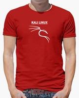 2017 Summer Sale Men T Shirt Kali Linux Logo White Short O Neck Novelty Knitted Funny
