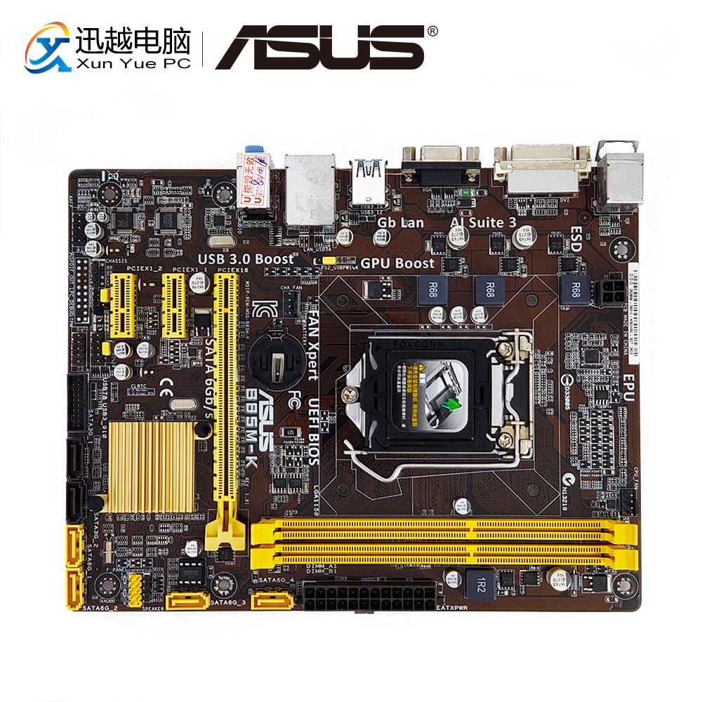 Asus B85M-K Desktop Motherboard B85 Socket LGA 1150 i7 i5 i3 DDR3 16G SATA3 USB3.0 VGA DVI uATX b85m k motherboard 1150 pin supports four generations of i3 i5 i7 70% 90%new